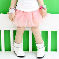 2013 baby summer girls clothing child yarn short skirt child bust skirt underwear