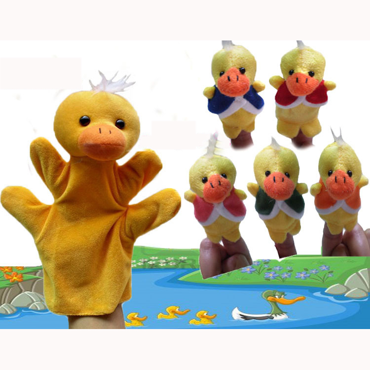 World Nursery Rhyme Puppets-Five Little Ducks Plush Finger Puppets /Hand Puppets For Kids/Students Talking Props,150pcs/Lot(China (Mainland))