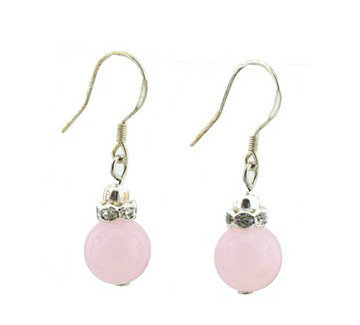 Peach blossom natural pink crystal rhinestone ring 925 pure silver earrings drop earring jewelry(China (Mainland))