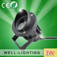 led landscape light 3W, IP65 AC220V outdoor led flood light,DC12/24V LED landscape lighting with spikes for garden application