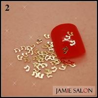 Gold Metal Art Nail Sticker Music Note Design Gold Nail Decal Metallic Tips 1000pcs/pack Free Shipping #2