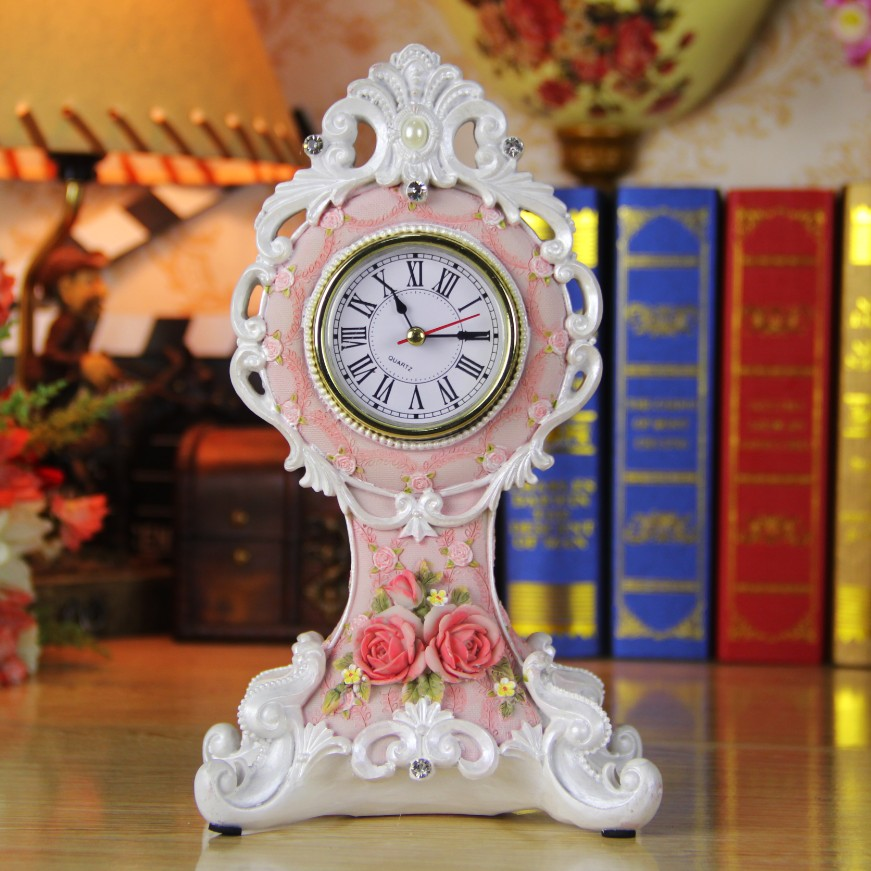 Crafts derlook bell ornaments decoration fashion desk clock rose table clock tower(China (Mainland))