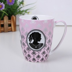 D'angleterre fashion bone china gift 88sqm ceramic cups mug personalized gentlewomen beauty care cup(China (Mainland))