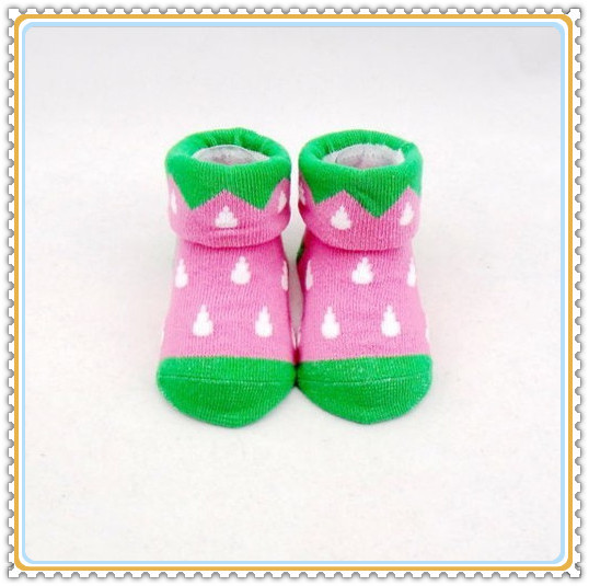 Hot sale new design cotton knitting turn cuff baby socks wholesale(China (Mainland))