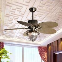 2013 new arrival Ceiling fan light luxury 52yft-1095n fan lights rustic rattan 52 single lamp fashion antique  free shipping