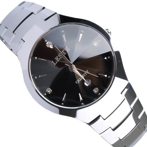Leste tungsten steel table male watch commercial watch waterproof mens watch lm0208(China (Mainland))