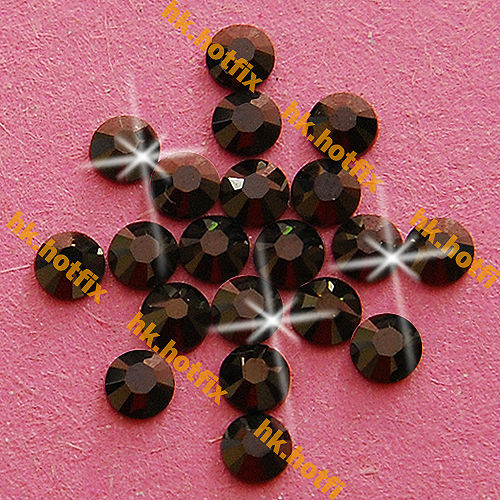 GENUINE Swarovski Elements ss12 Jet Nut ( 121 ) 720pcs Iron on 12ss Hot-fix Flatback Glass Crystal Beads 2038 Hotfix rhinestones(Hong Kong)