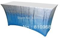 6ft Spandex Table Cloth Printing, Custom Spandex Table Cover Printing