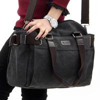6 colors fashion Women's handbag briefcase canvas shoulder bag messenger bag casual bag for men high quality
