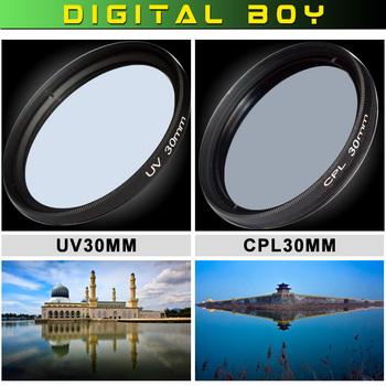 [Digital Boy] 30mm UV+CPL camera lens filter Ultra-violet Circular Polarizing CPL Filter kit for canon nikon DSLR camera lens