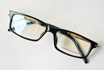 Eyeglass Frames Men's & Women Gold Black Full-Rim Spring Hinge Glasses Optical Eyeglasses Prescription Spectacle Frame P8135