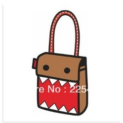 drawing from cartoon paper 2d unisex bag best present for boy girl friend 2d comic gismo shoulder bag(China (Mainland))