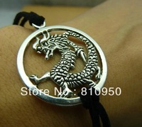 Free Shipping 32*37mm Metal/Alloy Antique Silver dragon Charms Pendant Jewelry connection Fit DIY Bracelet base settings