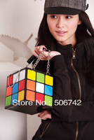 Personalized magic cube bag portable women's style handbag bag day clutch handbag 1pcs Free Shipping!!