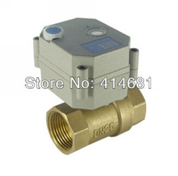 1''  brass electric ball valve 5 wires 12VDC or 24VDC electric ball valve with manual override and indicator