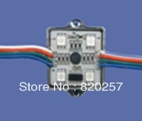 DHL EMS Free shipping 200pcs/lot DC12V waterproof led module with WS2801 IC ,4pcs SMD 5050 RGB