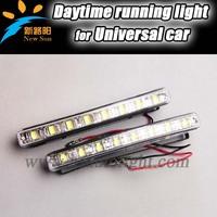 Free Shipping For all car Led Daytime running DRL Light, 8 Led daytime running light for fog parking Mutifunctional Drving light