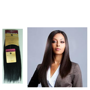 Free Shipping Masterpiece Yaki Wave Human Hair Mixed Synthetic Hair Extension Machine Blended Hair Weaving Hair Weft(China (Mainland))