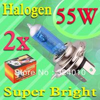 2pcs H4 Super Bright White Fog Halogen Bulb 55W Car Head Lamp Light V2