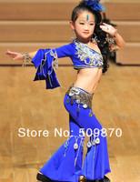 2013kid paillette Belly dancewear ,glitter kid bellydance perform costume,6-15T