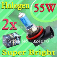 2pcs H11 Super Bright White Fog Halogen Bulb 55W Car Head Light Lamp