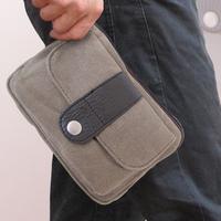 Casual male fashion bags 2013 canvas waist pack male shoulder bag messenger bag small bag men's