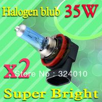 2pcs H8 Super Bright White Fog Halogen Bulb Hight Power 35W Car Head Lamp Light V6 12V