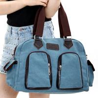 2012 student bag canvas bag one shoulder handbag cross-body women's fashionable casual handbag bag