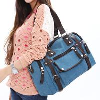 2012 male female european version of the canvas bags large all-match fashion shoulder bag messenger bag handbag