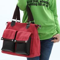 Trend canvas vintage patchwork all-match portable women's canvas messenger bag handbag