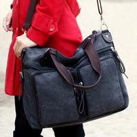 Women's handbag canvas bag casual fashion all-match bags large women's bag vintage one shoulder cross-body bag