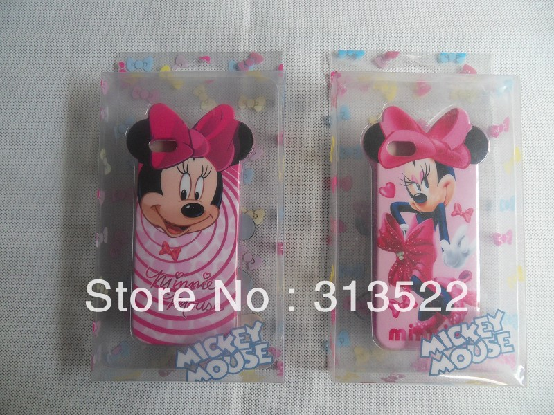Newest Mickey Minnie Mouse Soft TPU silicone Skin Case Cover for iphone 5 5G with retail package+8 Colors+Free Shipping(China (Mainland))
