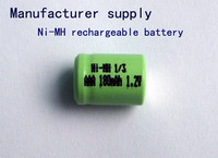 Manufacturer supply 1/3AAA Battery Ni-MH rechargeable battery 1/3AAA 180mAh 1.2V