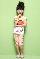 2013 summer play beauty children's club clothing mdash . fashion bow set top pencil pants