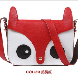 Free shipping 2013 new designer message promotion handbags shoulder brand women fox promotion handbags(China (Mainland))
