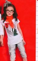Summer children's clothing mdash . girls clothing white t shirts 9648