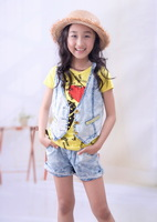 Aimy 2013 summer mdash . girls clothing set t trousers