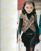 2013 female child mdash . all-match personality leopard print outerwear 3071a