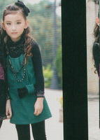 2013 spring and autumn female child mdash . fashion one-piece dress 3022