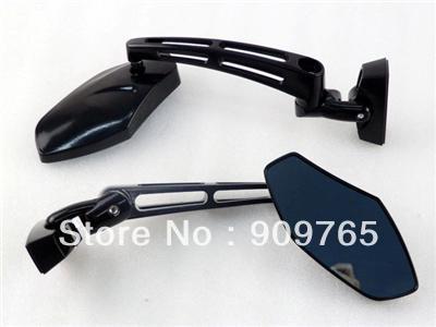 Pair Motorcycle Gloss Black Mini Sport Steel Mirrors for Yamaha YZF R1 R6 R6S 1000 600 Honda CBR 600 750 1000 RR F1 F2 F3 F4 F4i(China (Mainland))