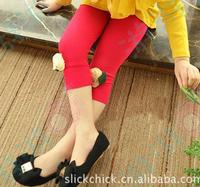 2013 female child summer three-dimensional rose legging pants capris knee-length