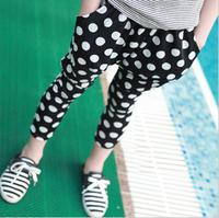 2013 children's summer clothing female child summer polka dot harem pants girl harem pants k3054