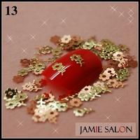 Gold Metal Art Nail Sticker Flower Design Gold Nail Decal Metal Tips Decoration DIY 1000pcs/pack Free Shipping #13
