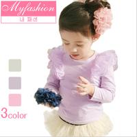 2013 female child sweet elegant princess 100% all-match cotton t-shirt