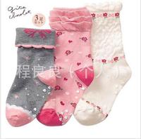 Grey SENSHUKAI , powder , white child socks sock cotton socks