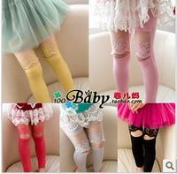 2013 female child summer fashion lace legging