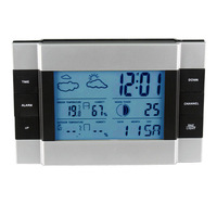 RF WirelessWeather Station  Indoor / Outdoor  Alarm Clock thermometer with Blue Backlight