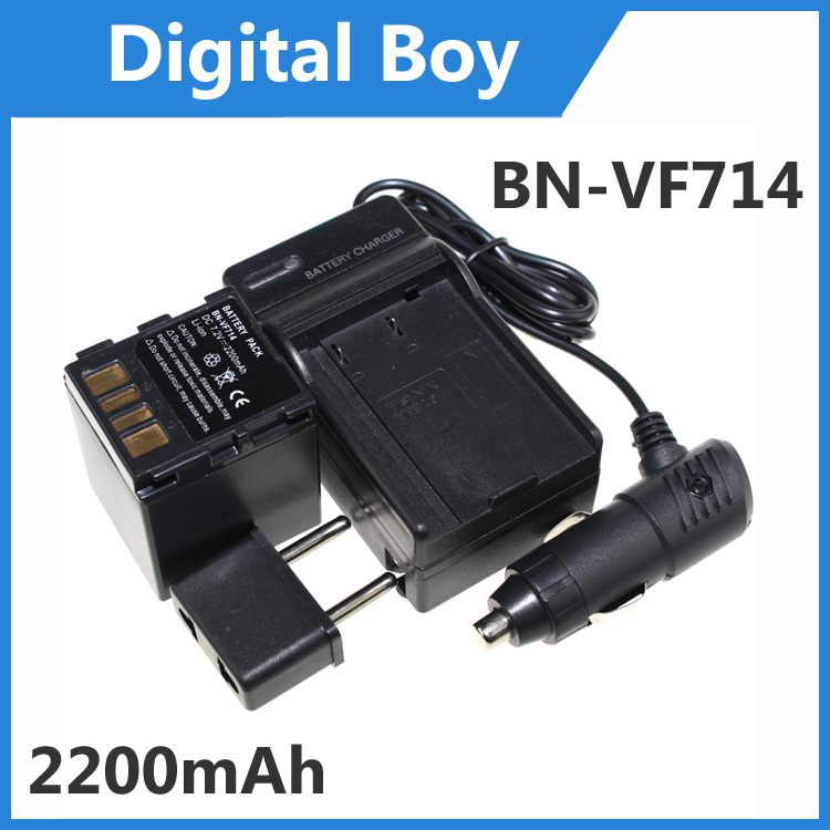 2200mAh BN-VF714 BNVF714 Battery+Charger+Car charger+Plug adapter for JVC GZ-D270 GR-X5 GR-DF590 Free Shipping(China (Mainland))