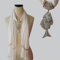 Scarf,Fish,Silver Color Accessories,16 Colors,180*40cm,Free Shipping Wholesale