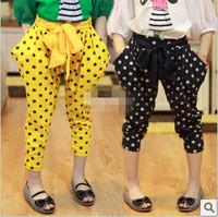 Children's clothing female child 2013 spring child polka dot fashion harem pants trousers
